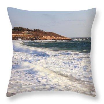 Nobska Point Seascape Throw Pillow