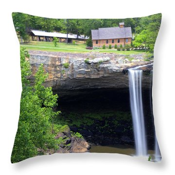 Noccolula Falls Gadsden Alabama Throw Pillow