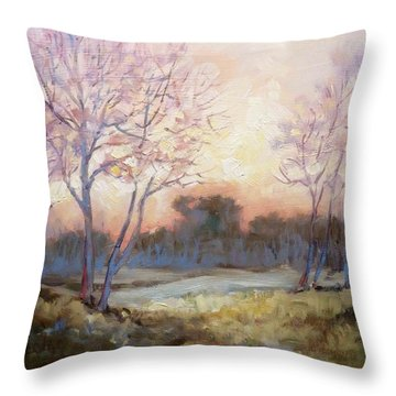 Nocturnal Landscape Throw Pillow