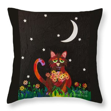 Nocturnal Romantic Throw Pillow