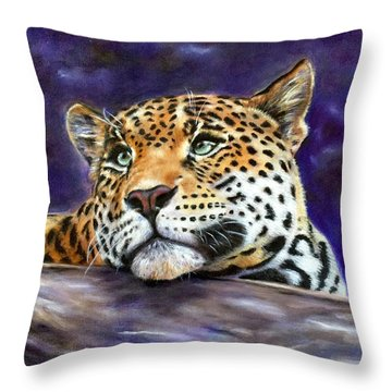 Nocturnal Solitude Throw Pillow