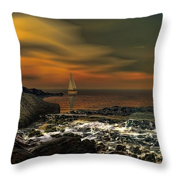 Nocturnal Tranquility Throw Pillow by Lourry Legarde