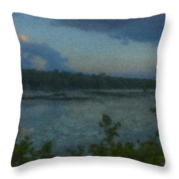 Nocturne At Ames Long Pond Throw Pillow