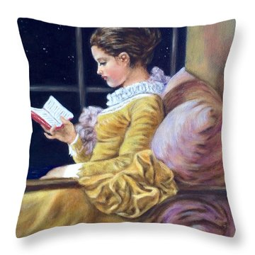 Nocturne Inspired By Fragonard Throw Pillow