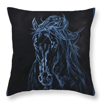 Nocturno Throw Pillow by Jana Goode