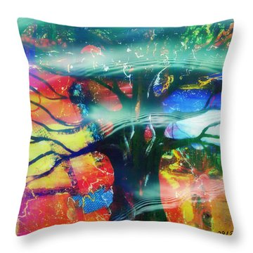 Noel Throw Pillow by Fania Simon