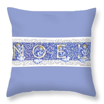 Throw Pillow featuring the drawing Noel Original Drawing Version by Donna Huntriss
