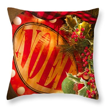 Noel Sign Throw Pillow
