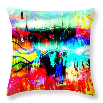 Noel Tree Throw Pillow by Fania Simon