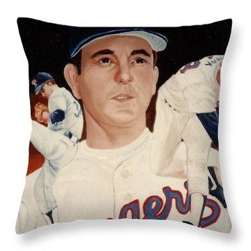 Nolan Ryan Medley Throw Pillow