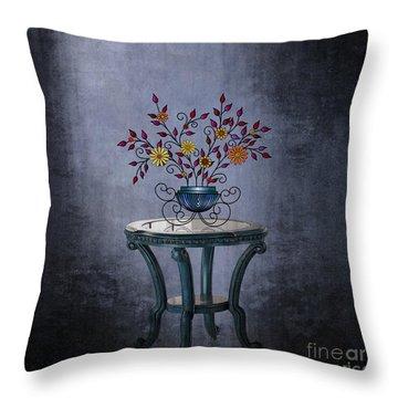 Throw Pillow featuring the digital art Non-biological Botanical 2 by Megan Dirsa-DuBois