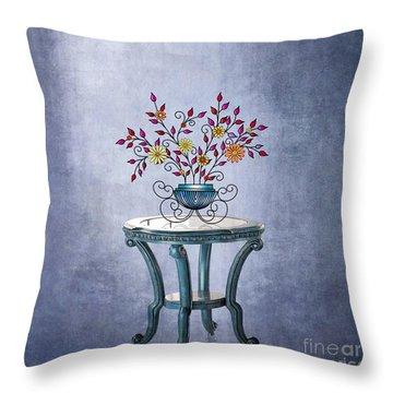 Throw Pillow featuring the digital art Non-biological Botanical 3 by Megan Dirsa-DuBois