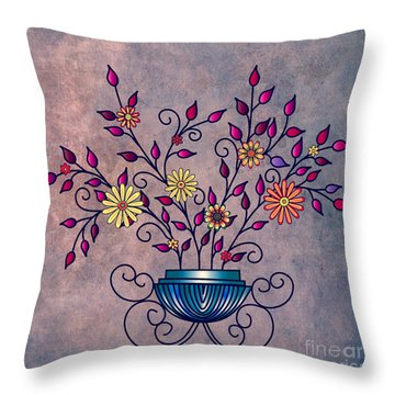 Non-biological Botanical 5 Throw Pillow