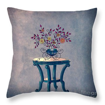 Non-biological Botanical 7 Throw Pillow by Megan Dirsa-DuBois