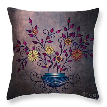 Non-biological Botanical 8 Throw Pillow