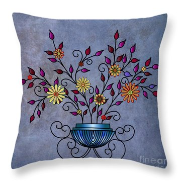 Non-biological Botanical Throw Pillow