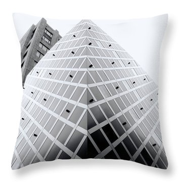 Throw Pillow featuring the photograph Non-pyramidal by Wayne Sherriff