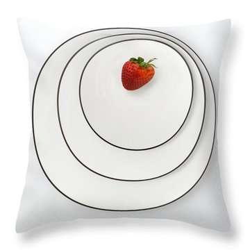 Nonconcentric Strawberry No. 2 Throw Pillow by Joe Bonita