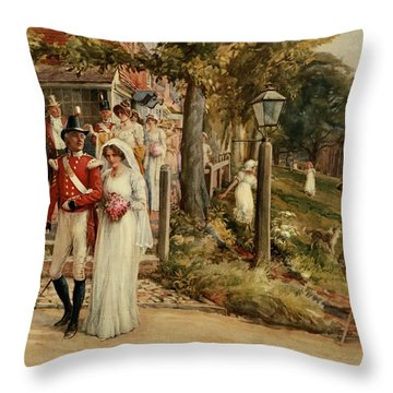None But The Brave Deserve The Fair Throw Pillow
