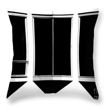 Throw Pillow featuring the photograph None More Black by CML Brown