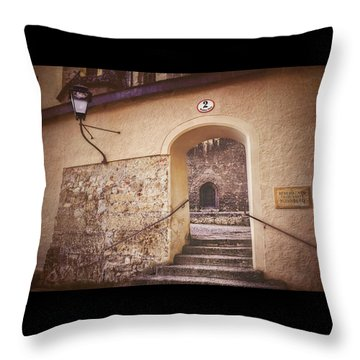 Throw Pillow featuring the photograph Nonnberg Abbey In Salzburg Austria  by Carol Japp