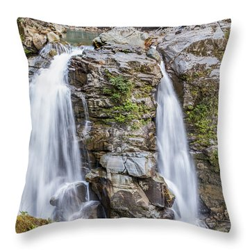 Nooksack Falls Throw Pillow