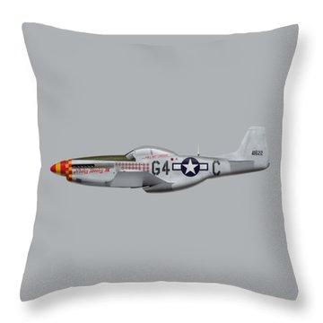 Nooky Booky I V - P-51 D Mustang Throw Pillow