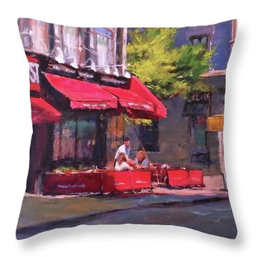 Noon Refreshments Throw Pillow