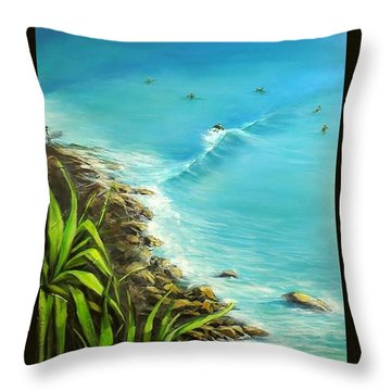 Noosa National Park Throw Pillow by Chris Hobel