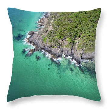 Throw Pillow featuring the photograph Noosa National Park by Keiran Lusk