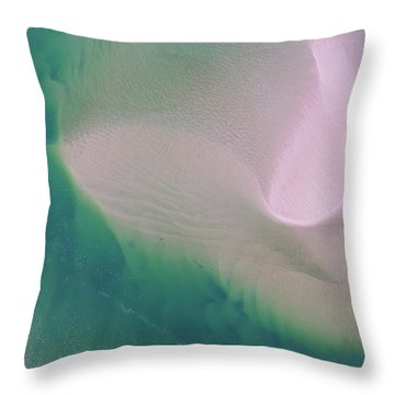 Throw Pillow featuring the photograph Noosa River Abstract Aerial Image by Keiran Lusk