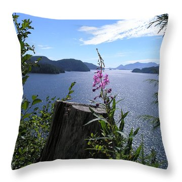 Flowers Of Nootka Sound Throw Pillow