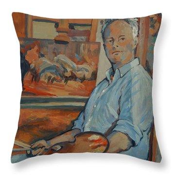 Nop Briex Self Portrait Throw Pillow