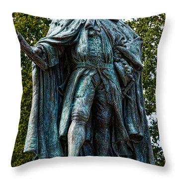 Norborne Berkeley - Baron De Botetourt Throw Pillow by Christopher Holmes