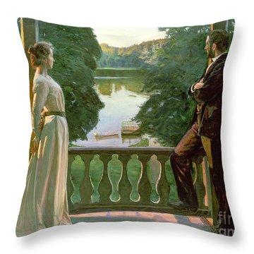 Nordic Summer Evening Throw Pillow by Sven Richard Bergh
