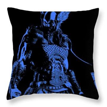 Nordic Warrior Throw Pillow