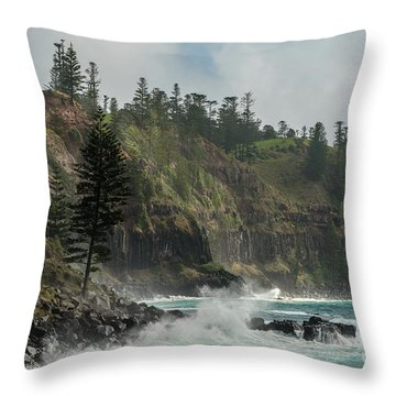 Throw Pillow featuring the photograph Norfolk Island Coastline 01 by Werner Padarin
