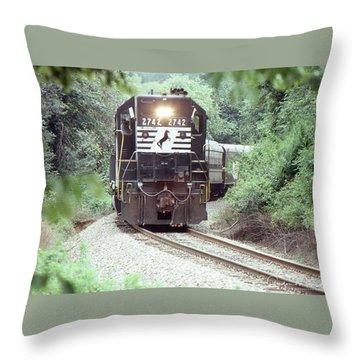 Norfolk Southern Passenger Excursion Throw Pillow