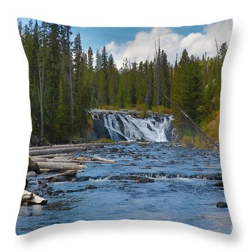 Throw Pillow featuring the photograph Noris Falls by Robert Pearson