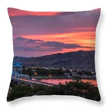 Normal Hill Sunset Throw Pillow by Brad Stinson