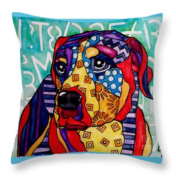 Norman  Throw Pillow by Jackie Carpenter