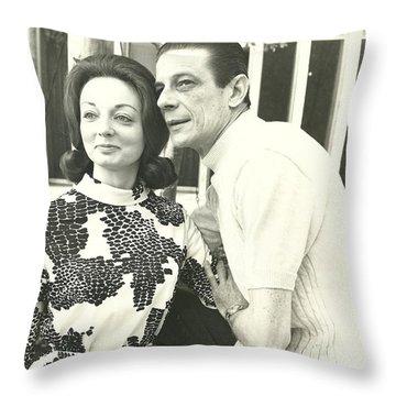 Norman Treigle And Linda Throw Pillow