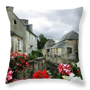 Normandy Arrival Throw Pillow by Joan  Minchak