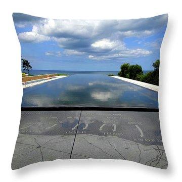 Normandy Beach France Throw Pillow