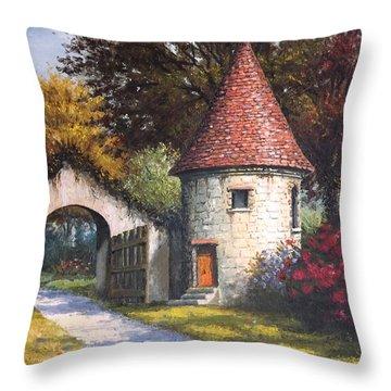 Normandy Garden Throw Pillow by Sean Conlon