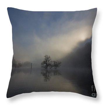 Norris Lake April 2015 Throw Pillow