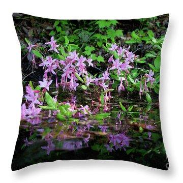 Norris Lake Floral 2 Throw Pillow by Douglas Stucky