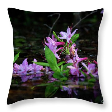 Throw Pillow featuring the photograph Norris Lake Floral by Douglas Stucky
