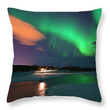 Norrsken 3 Throw Pillow