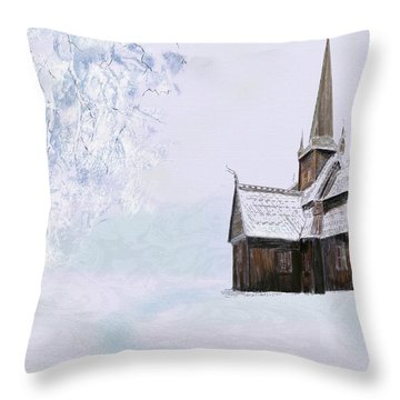Norsk Kirke Throw Pillow